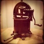 Antique cast-iron sausage press