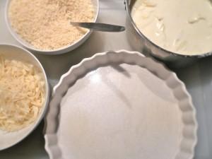 Assembling the gratin