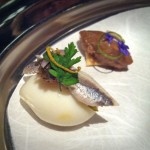 Next Paris 1906 - Quail egg with anchovy